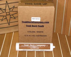 Teak Deck Caulk, White - CASE