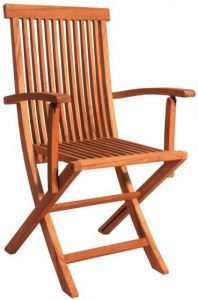 Teak Folding Chair w Armrests