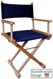 Teak Folding Captains Chair w Cushions