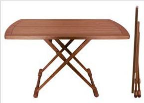 Teak Folding Table, Rectangular
