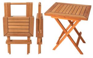 Teak Folding Table, Square End-table
