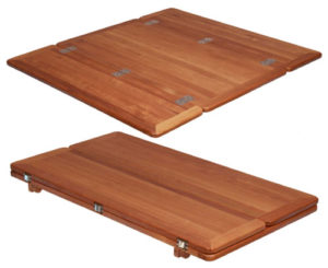 Teak Table, Folding Wings, Rectangular
