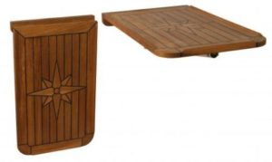 Teak Table, Balcony, Star Inlay