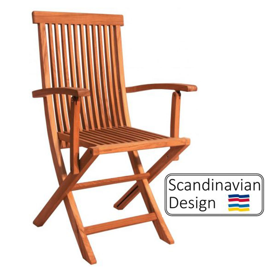 teak Chair w Armrests