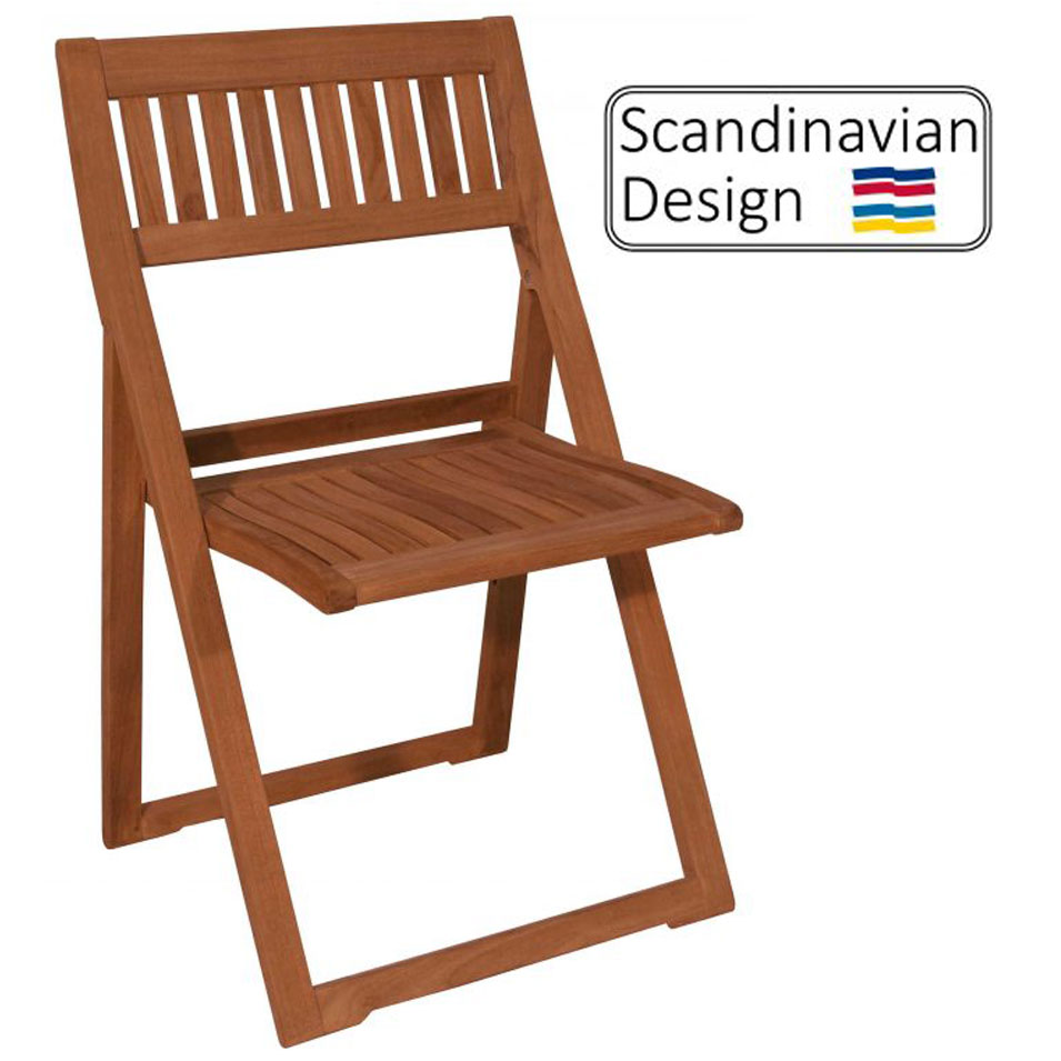 Teak Folding Chair, Fredrik