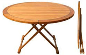 Teak Folding Table, Round