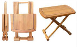 Teak Folding Table, Rectangular End-table