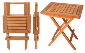 Teak Folding Table, Square End-table