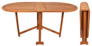Teak Folding Table, Oval Butterfly