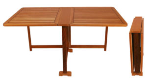 Teak Folding Table, Rectangular Butterfly