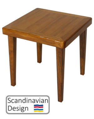 High Gloss Teak End Table