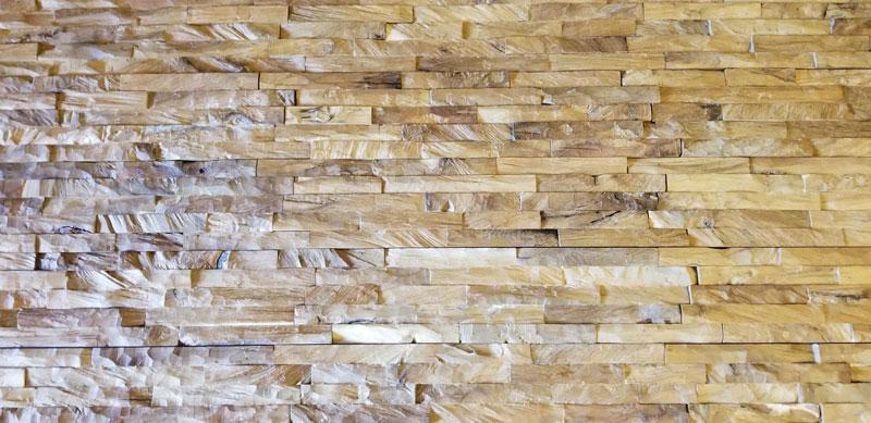 teak root wall cladding